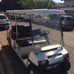 Carrinho de golfe elétrico usado